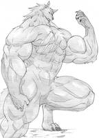 David the Werewolf Drawing by muddness