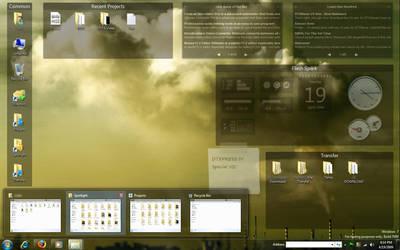 My Desktop - April 2009 by counteralchemist