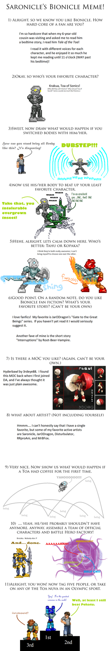Saronicle's Bionicle Meme by JacobLazer