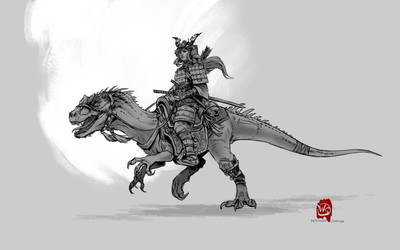 Samurai Dinosaur Warrior