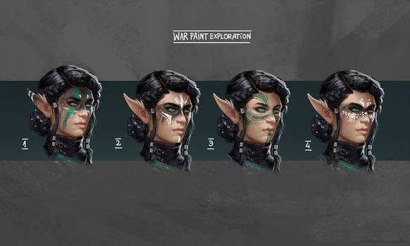 War Paint variations for Dark Elf OC