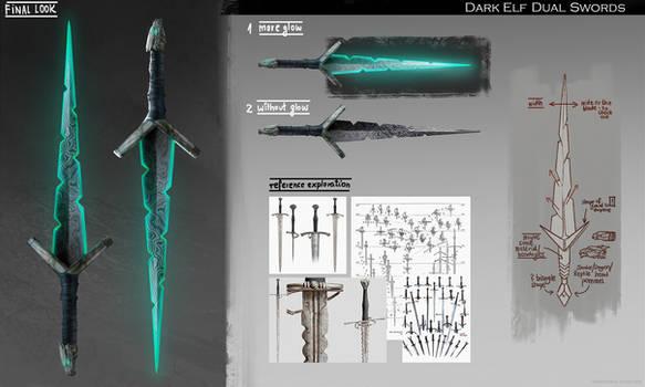 Dual Swords for Dark Elf OC