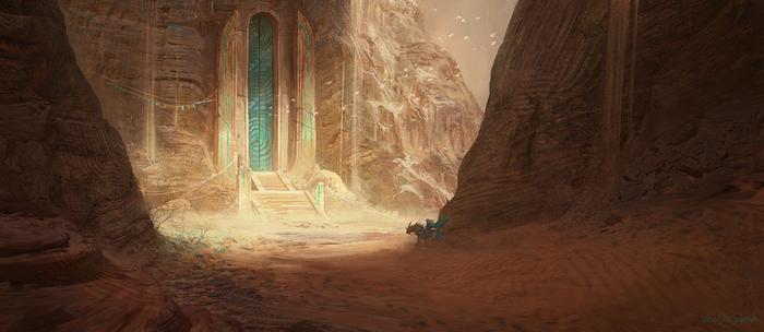 Alien Desert Temple