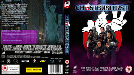 Ghostbusters II 25th Anniversay Blu Ray cover