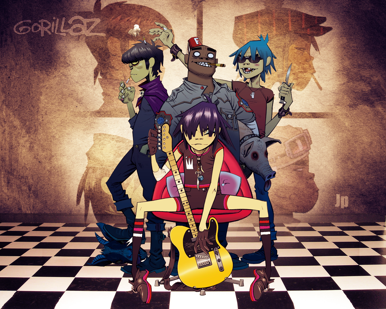 Gorillaz a banda Gorillaz_Wallpaper_by_Jp182