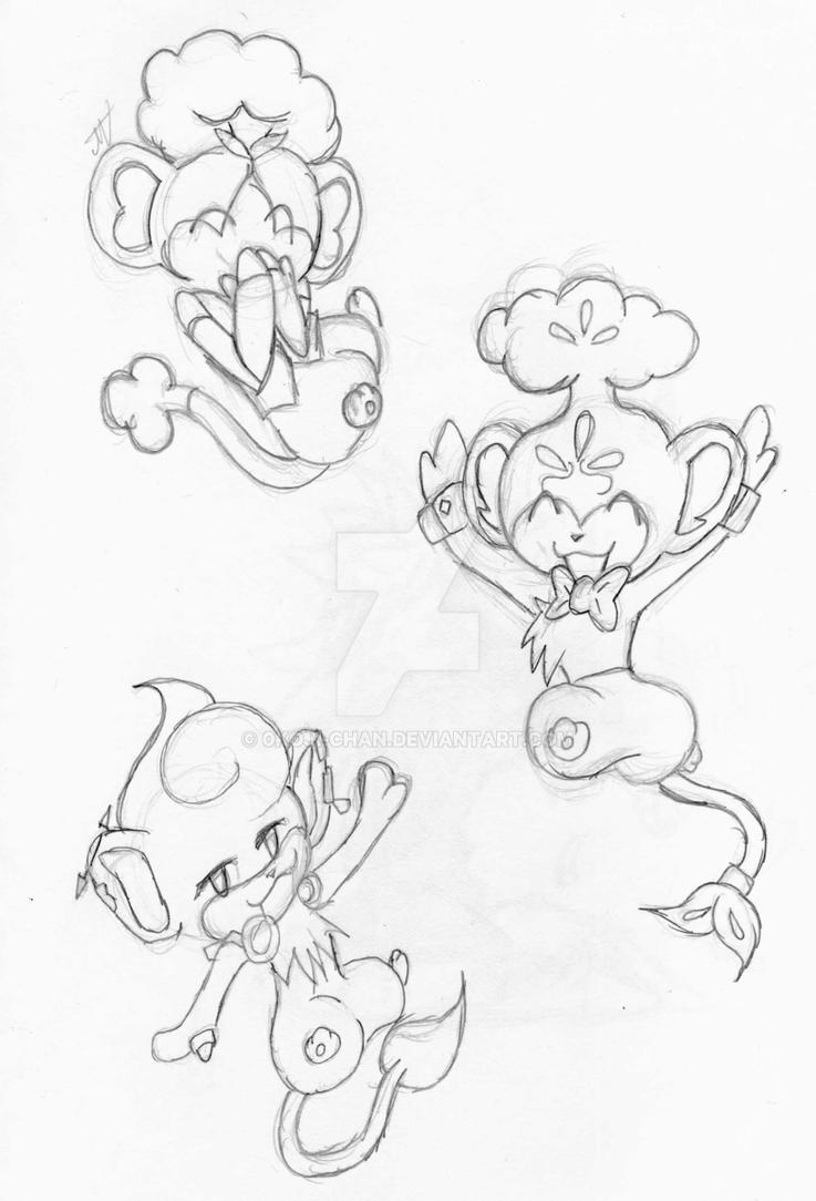pokemon pansage coloring pages - photo #32