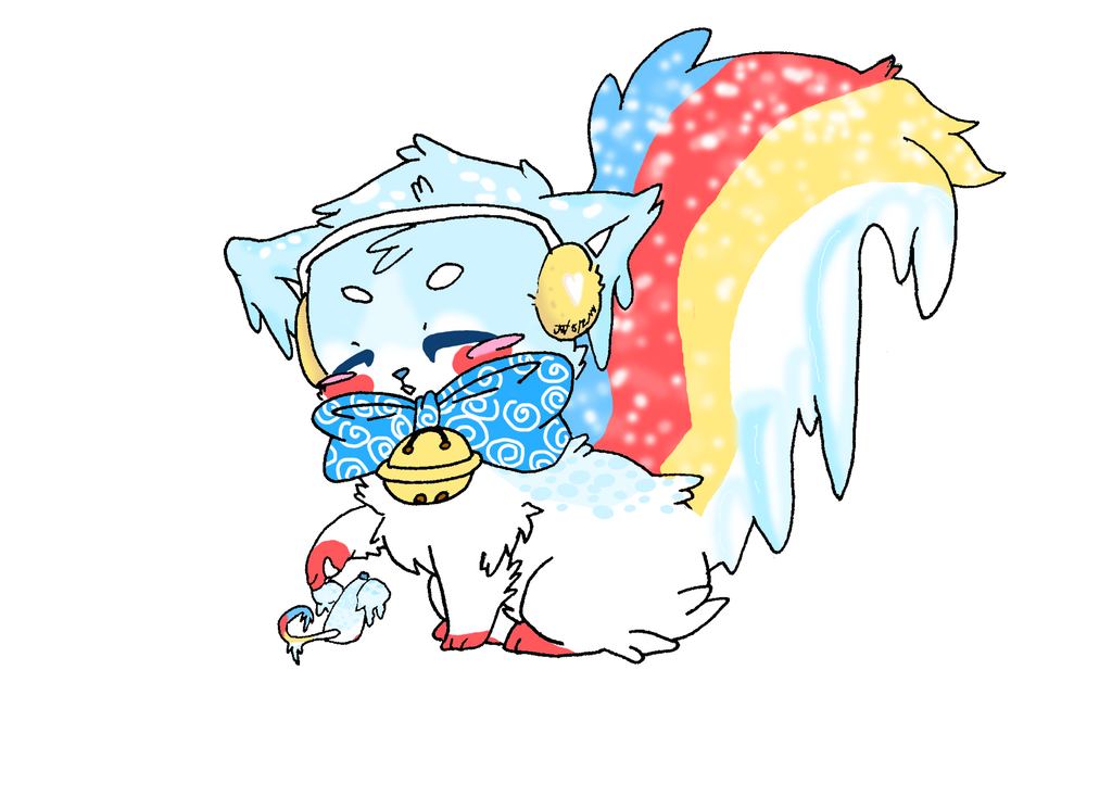 Milo the Snowcone Sushi Cat by 0Koji-chan