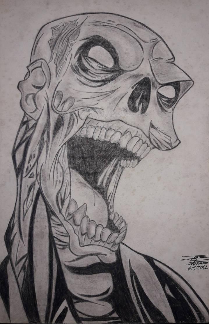 Zombie pencil sketch by datejean