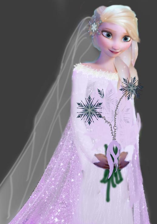 รูป เอลซ่าในชุดแต่งงาน Queen Elsa In Wedding Dress Dek