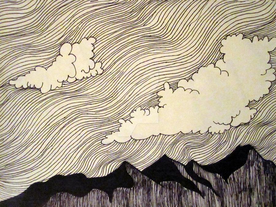 Contour Line Drawing Of A Landscape : Cross contour by rainbowdolphin on deviantart