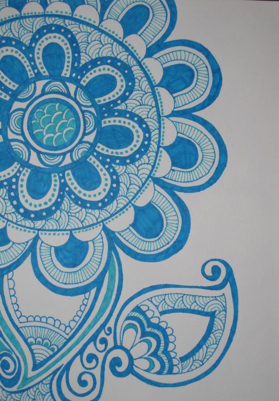 Sharpie Flower Design by rainbowdolphin14 on DeviantArt Sharpie Art Flowers