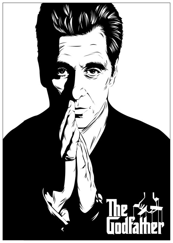 The Godfather 02 BW version by astayoga