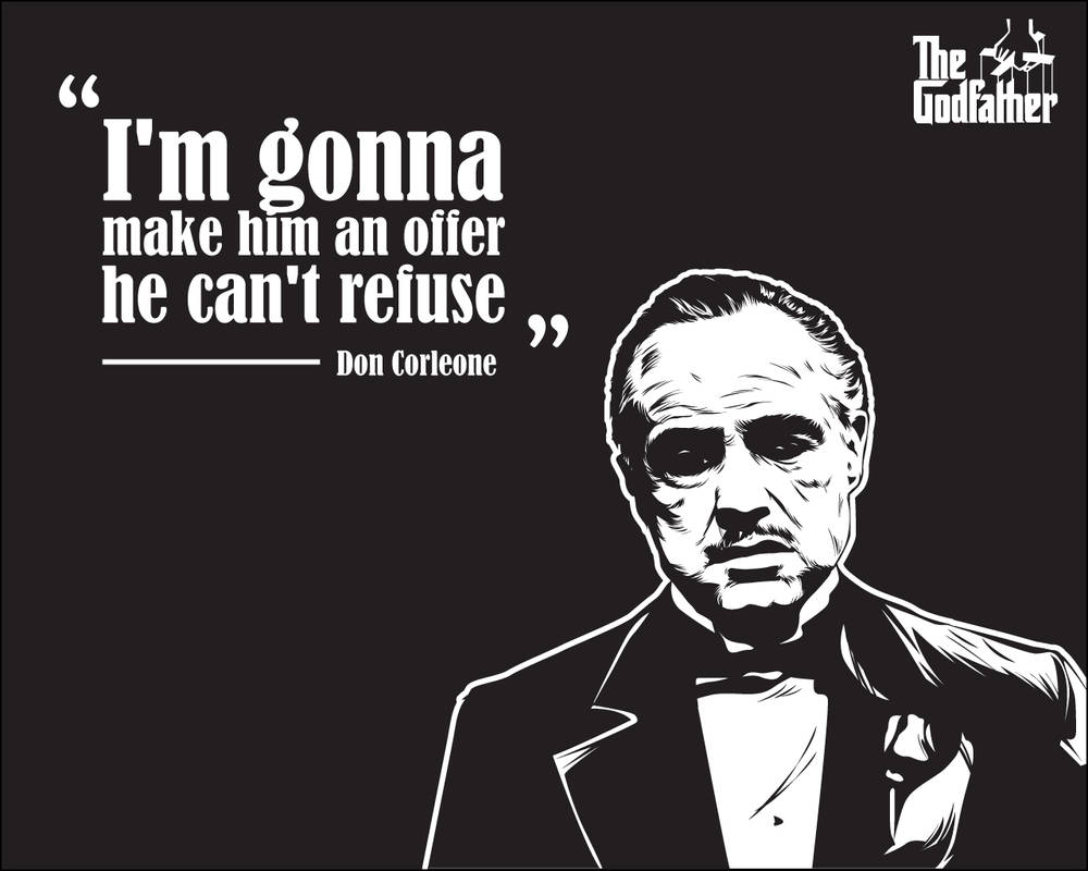 Godfather Wallpaper - Vito Corleone's Quote