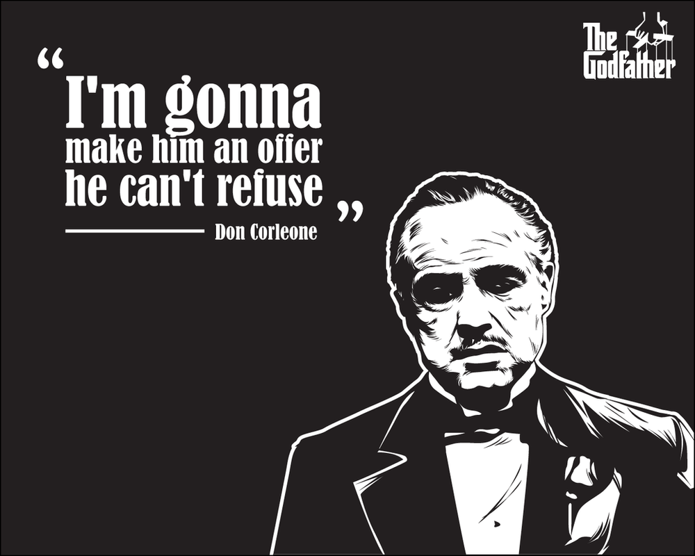 Godfather Wallpaper - Vito Corleone's Quote by astayoga