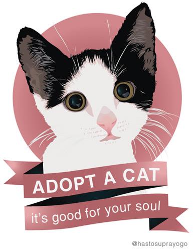 Cat Illustration by astayoga