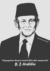 BJ Habibie by astayoga