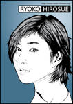 Ryoko Hirosue in Blue by astayoga