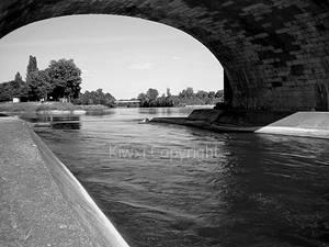 Behind bridge