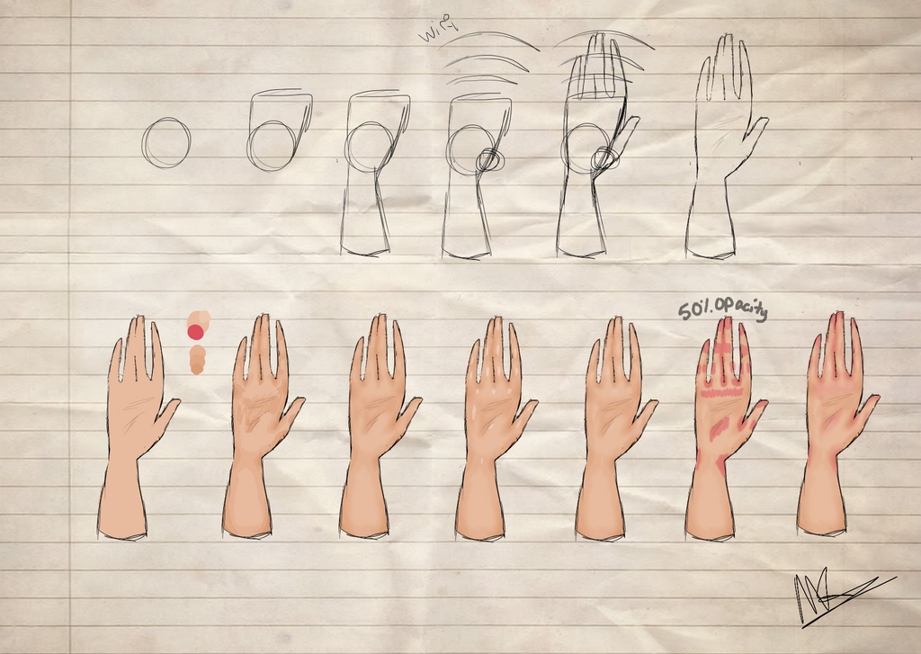 Hand Tutorial by All-The-Fish-Here