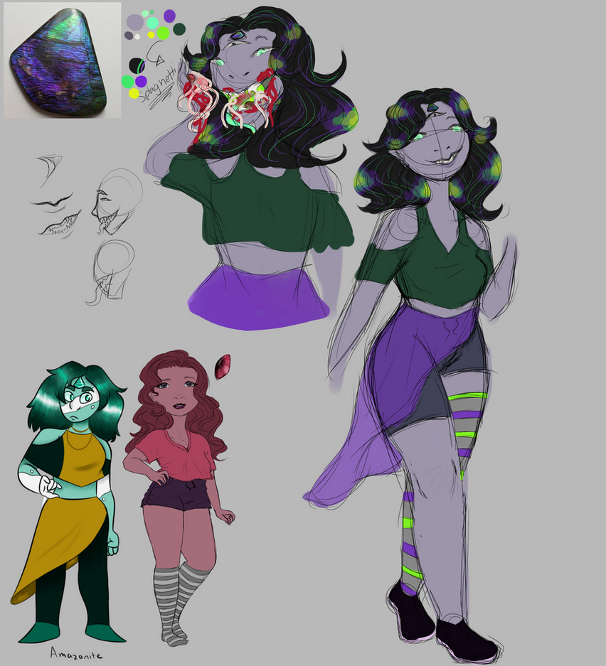 Ammolite Doodles by All-The-Fish-Here