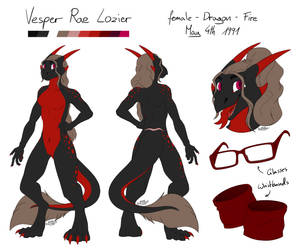 [COM] Vesper Rae Lozier - Reference Sheet by Brownycat
