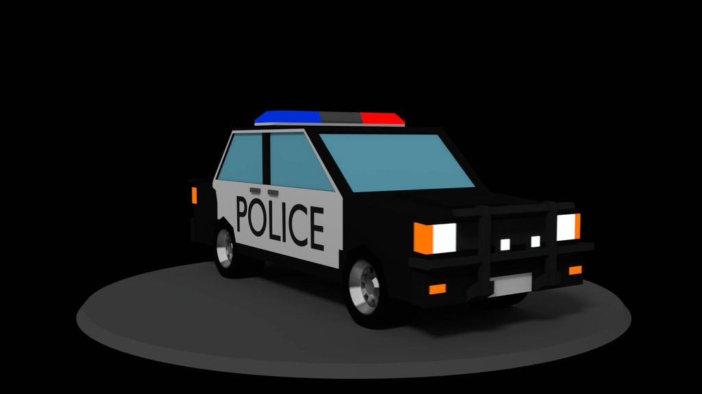 police car low poly