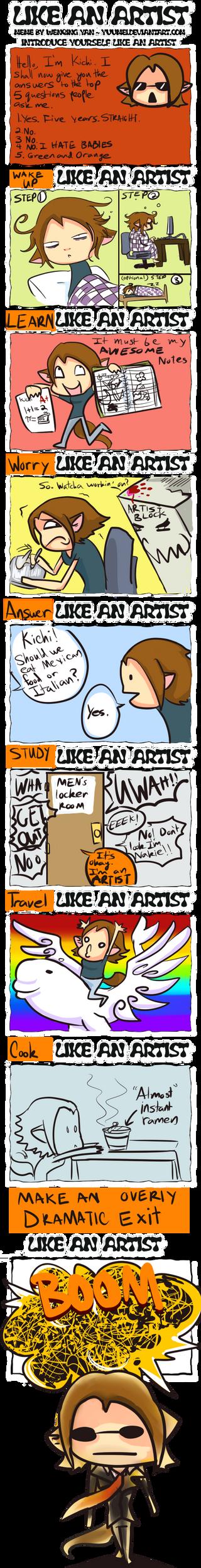 Like an ARTIST by Avibroso