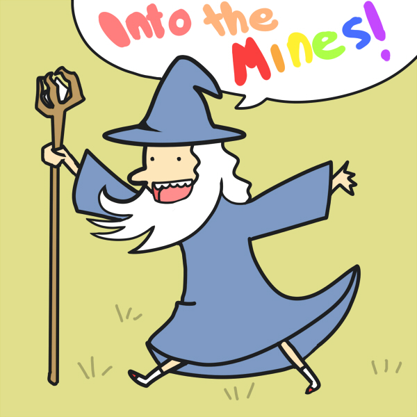 Gandalf Adventure Time style by Avibroso