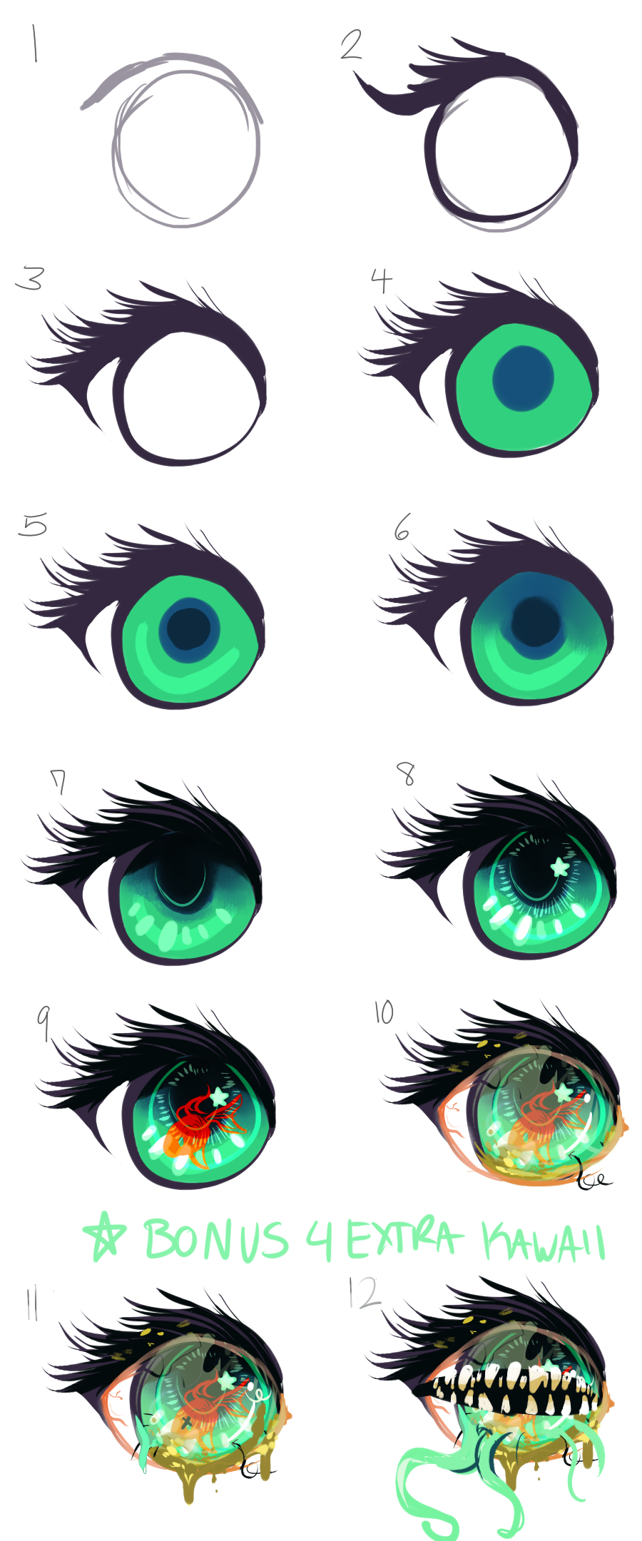 Anime Eye Process By Avibroso On DeviantArt