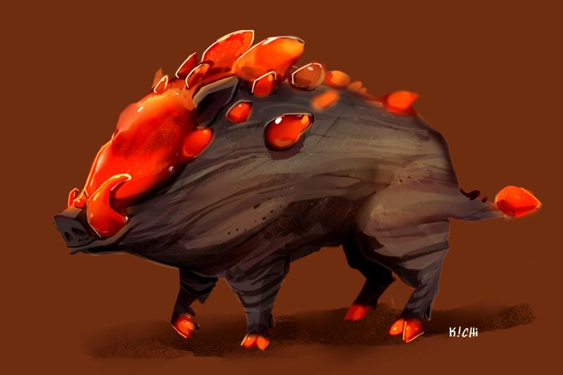 Carnelian Boar by Avibroso