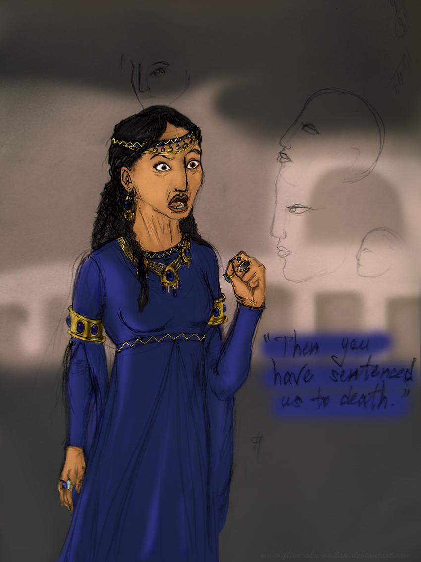 Sarabi. Humanised (like Thracian). Colorfull by Flive-aka-Nailan