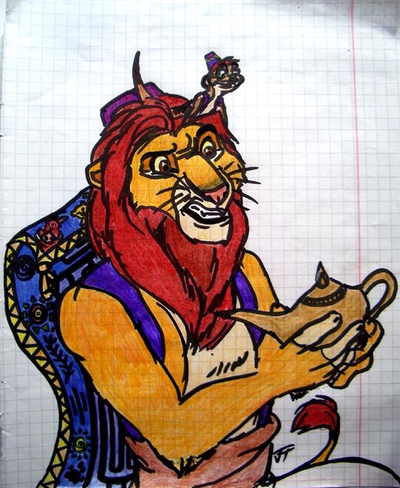 Aladdin-Simba, Abu-Timon, Carpet-Pumbaa by Flive-aka-Nailan