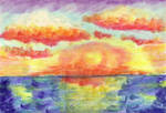 seascape pastel sunsparkle