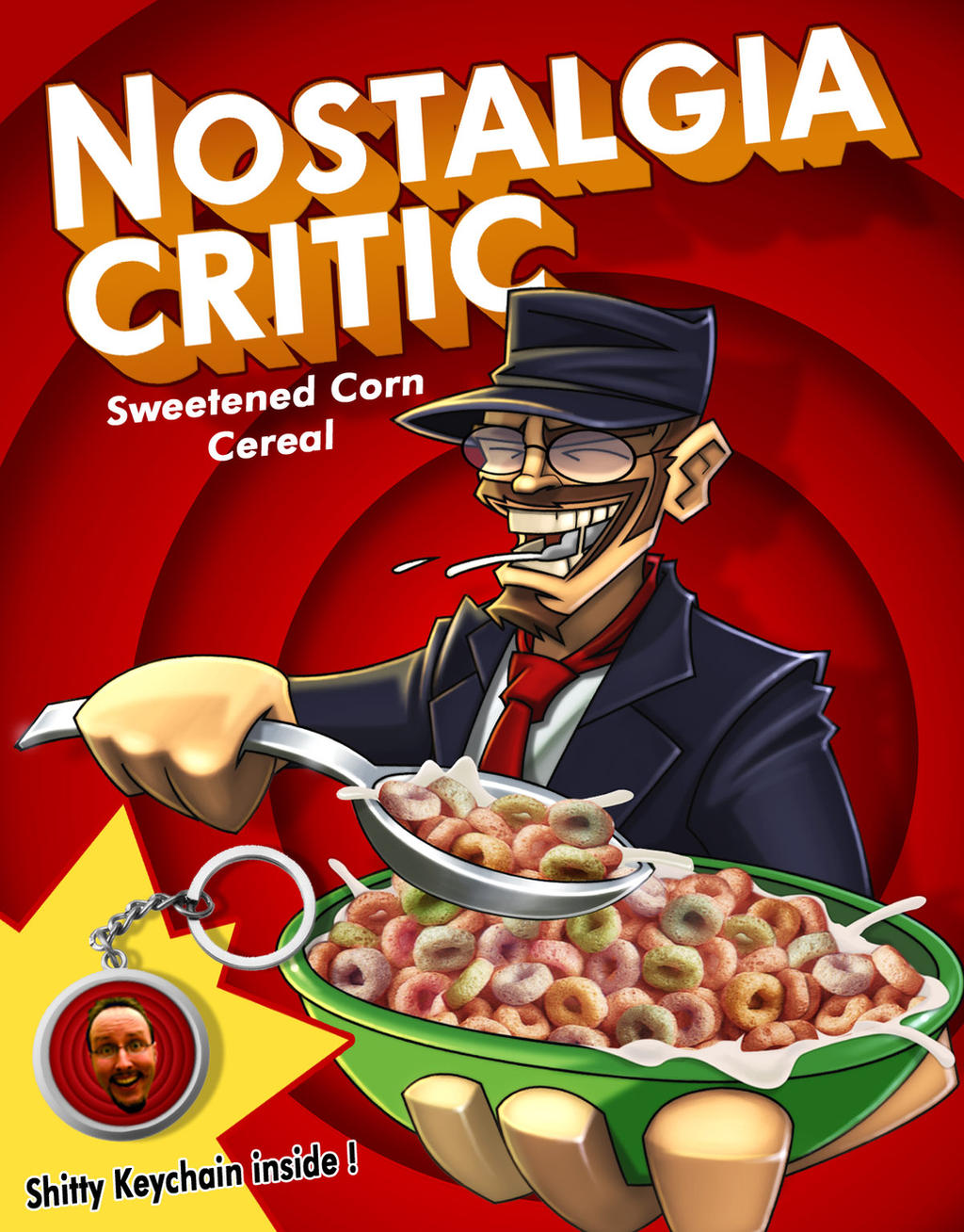 Nostalgia Critic Cereals by MaroBot