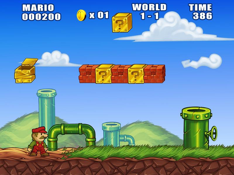 Mario remake world 1 - 1