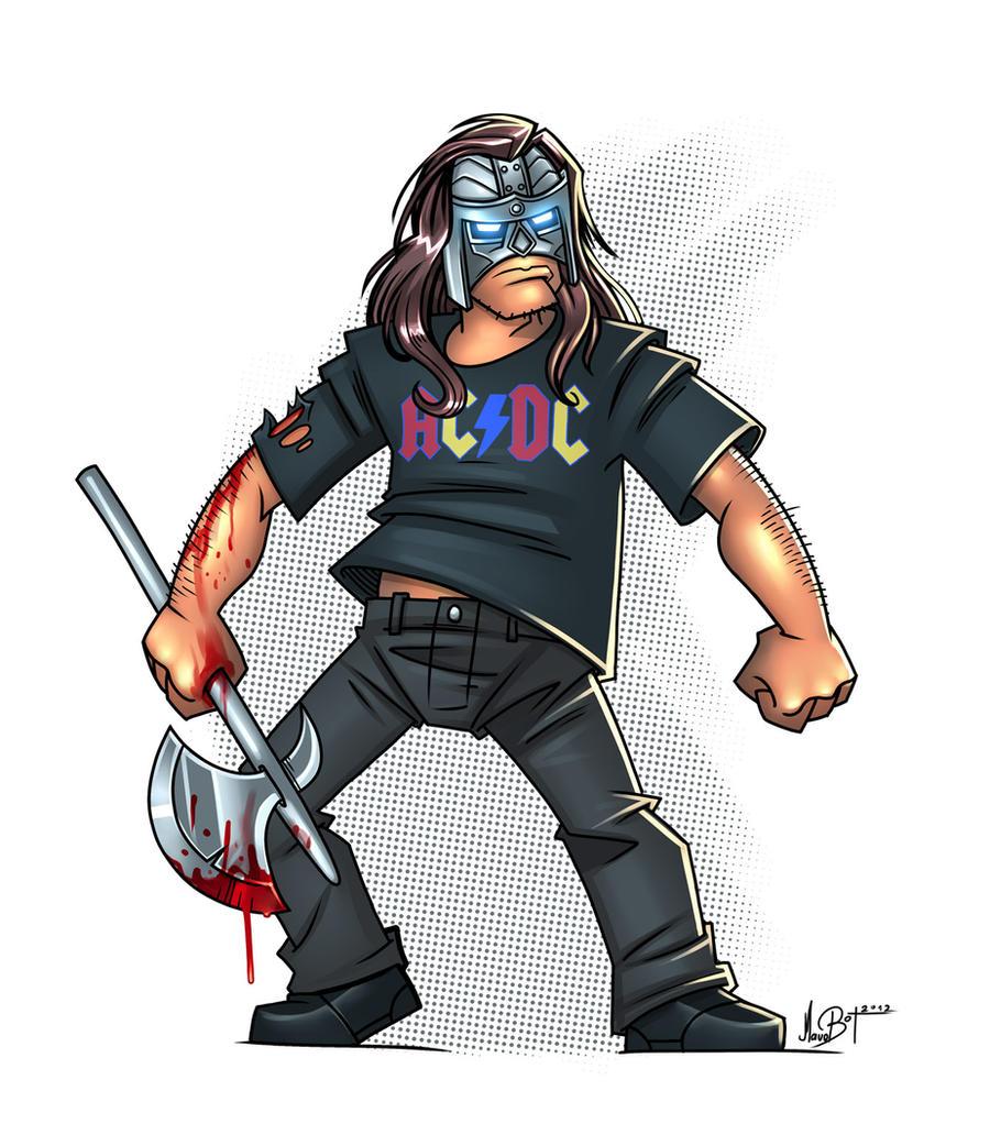 Metal Axe Man by MaroBot