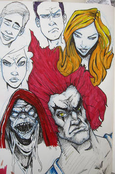 Sketchbook - Faces and Thundercats