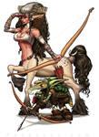 centaura and goblin