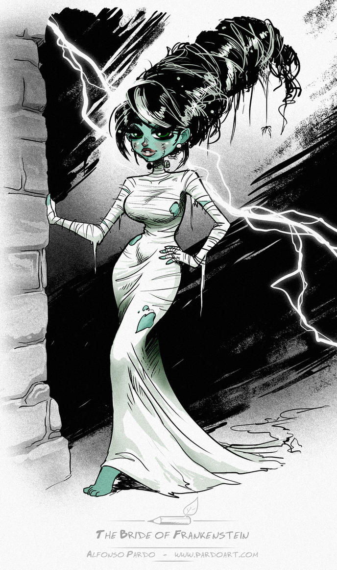The Bride of Frankenstein sketch by pardoart