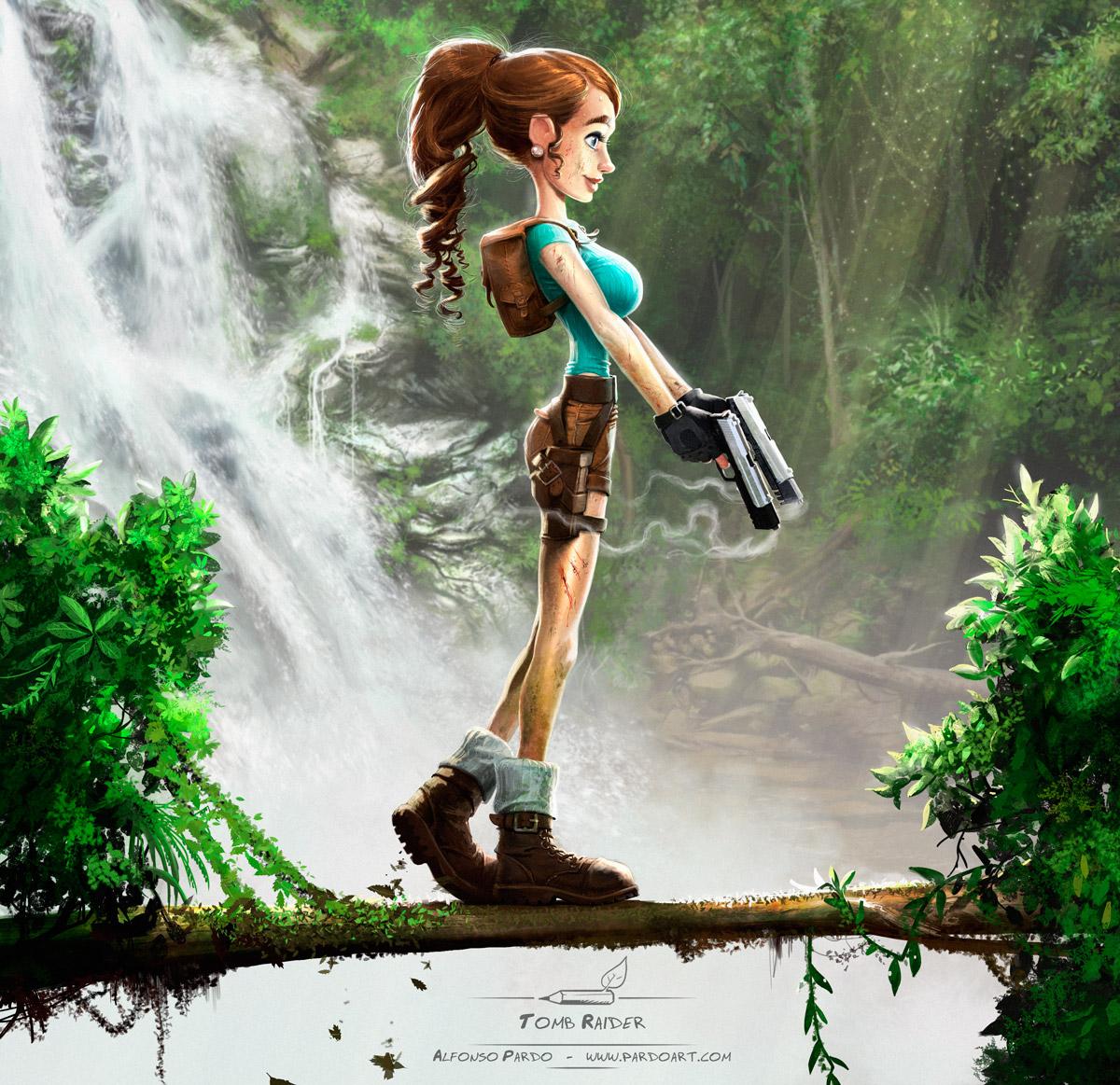 Tomb Raider crossed with Disney