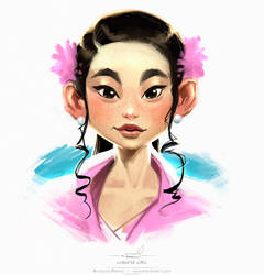 Chinese girl by pardoart