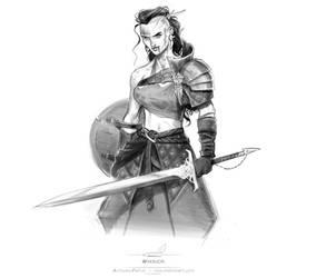 Warrior by pardoart