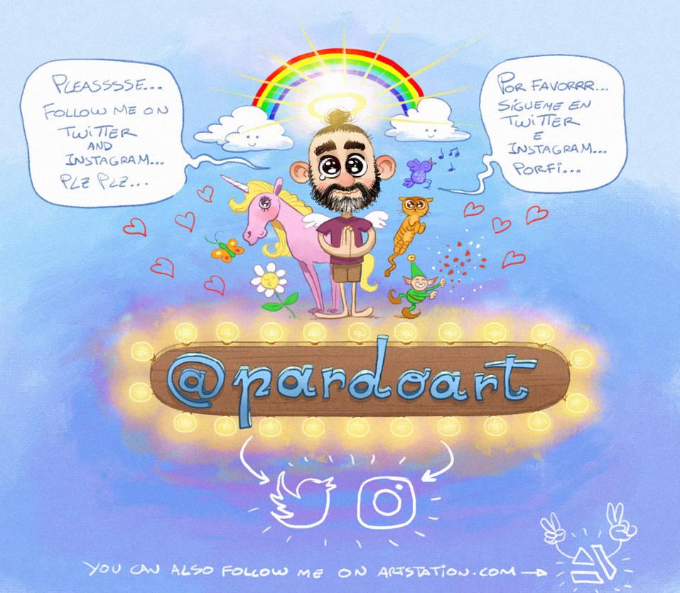 Follow me on twitter, instagram, artstation... by pardoart