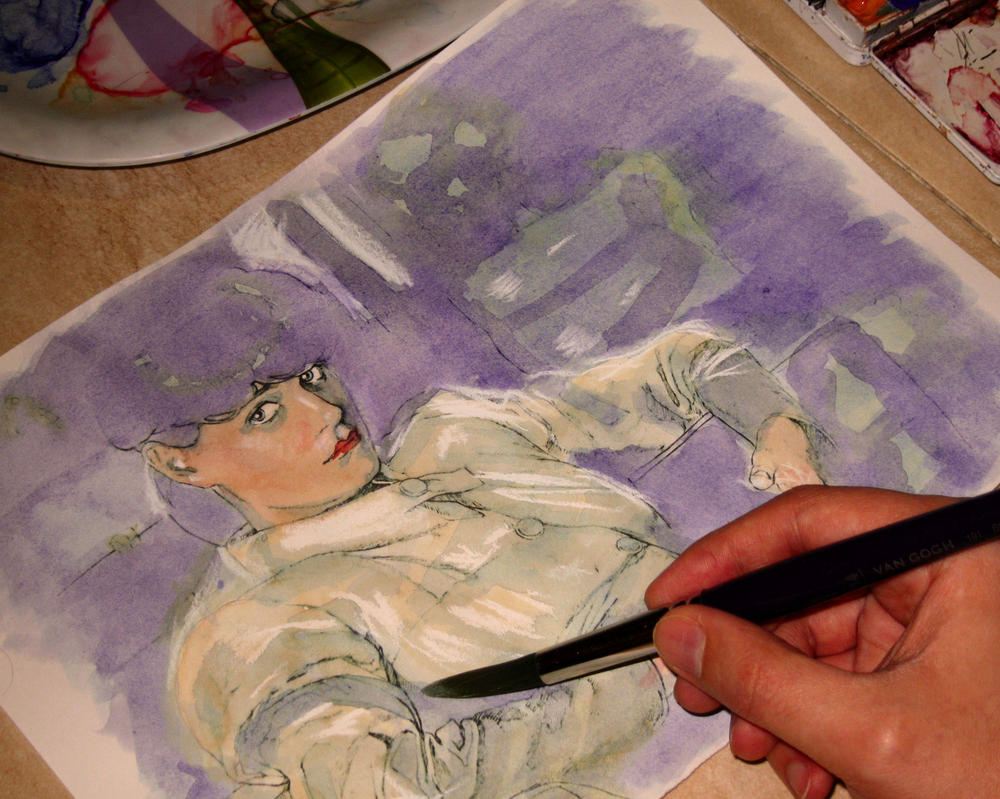Sketch painting - Blade runner fanart by Trunnec