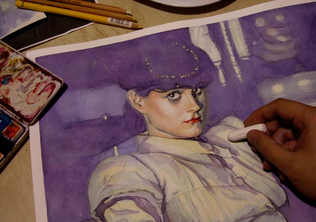 illustration in progress (Rachel) by Trunnec