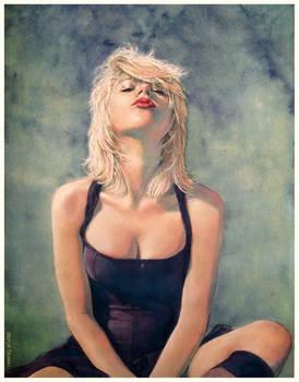 Scarlett Johansson (watercolor and pastel)