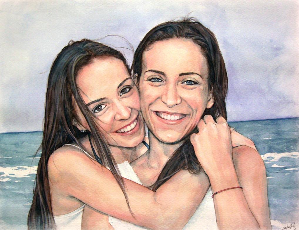 Commission portrait (watercolor) by Trunnec