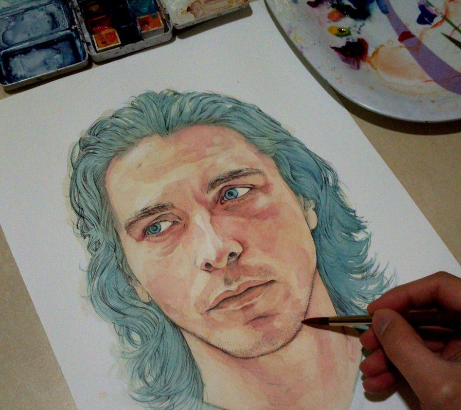 Christian Bale in progress by Trunnec
