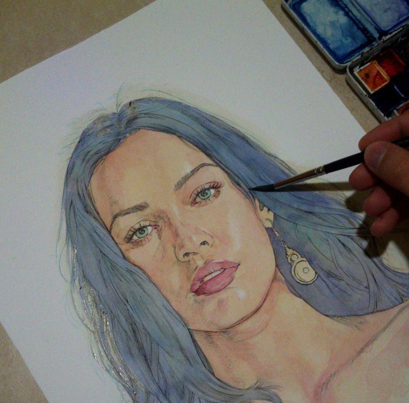 Megan Fox in progress by Trunnec