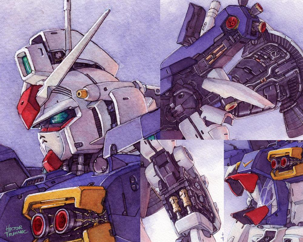 Gundam GP01 details by Trunnec